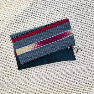 Woven African Aso-oke, Aso-ofi cloth fold over zipper ethnic clutch from Tribal Marks by 'Dami - cool